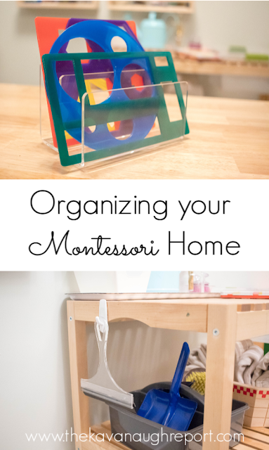 Types of organization solutions for Montessori homes - easy ways to organization and accessibility of your spaces.