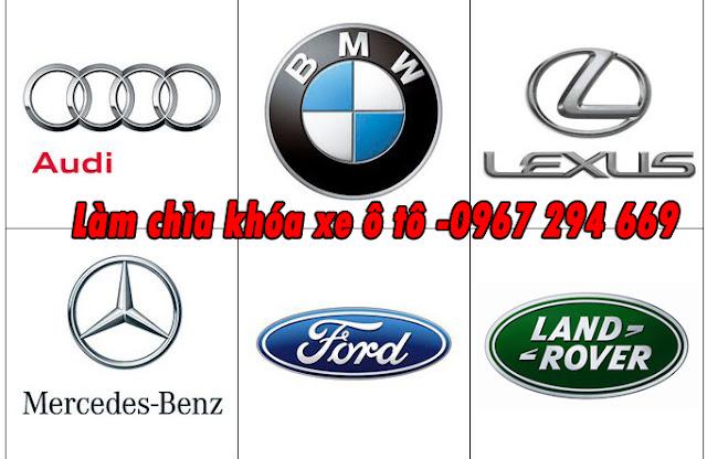 Địa chỉ chuyên làm chìa khóa xe ô tô  Mercedes Ford BMW Audi Land Rover Lexus uy tín có bảo hành
