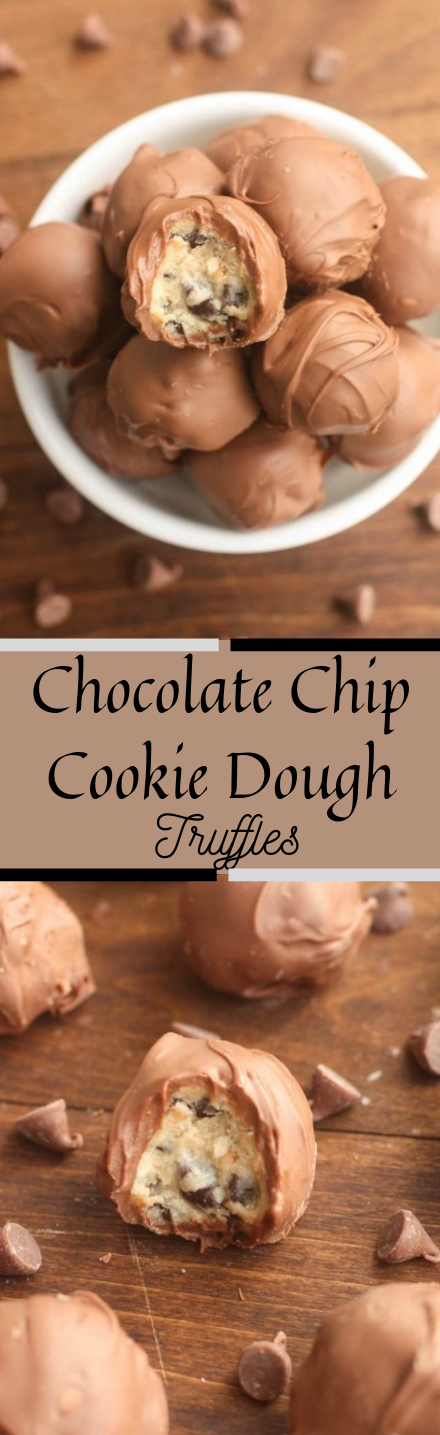 Chocolate Chip Cookie Dough Truffles #cookies #dessert
