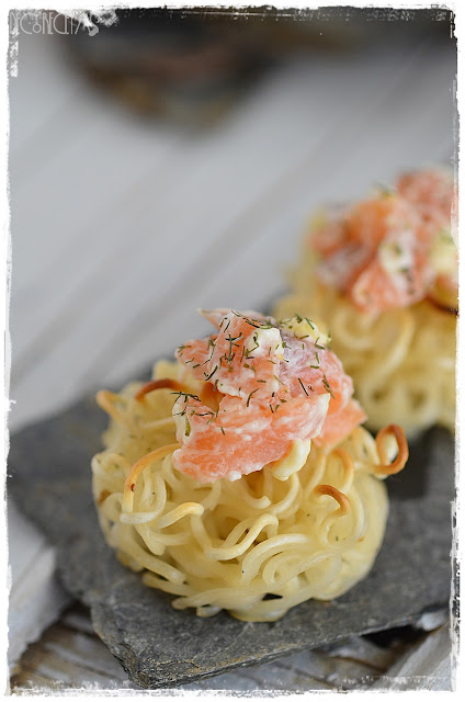 Nidos de salmón Ahumado