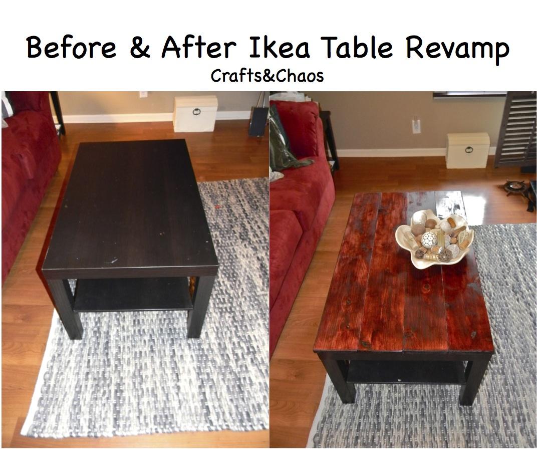 Crafts And Chaos: Do It Yourself: Ikea Coffee Table Revamp