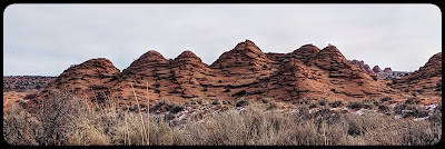 This was the second set of Tee Pees we found between Wire Pass and the Wave Trail in and area referred to as just the Pass.
