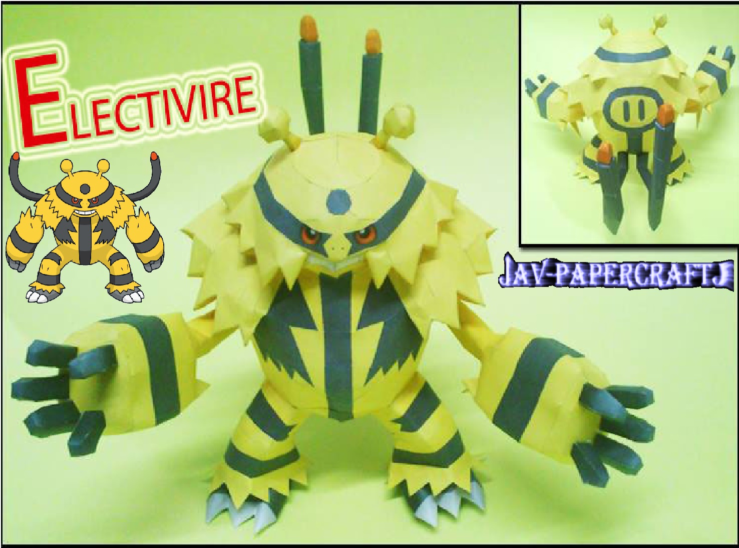 Pokemon Electivire Paper Model