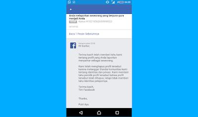 Akun Facebook Dinonaktifkan