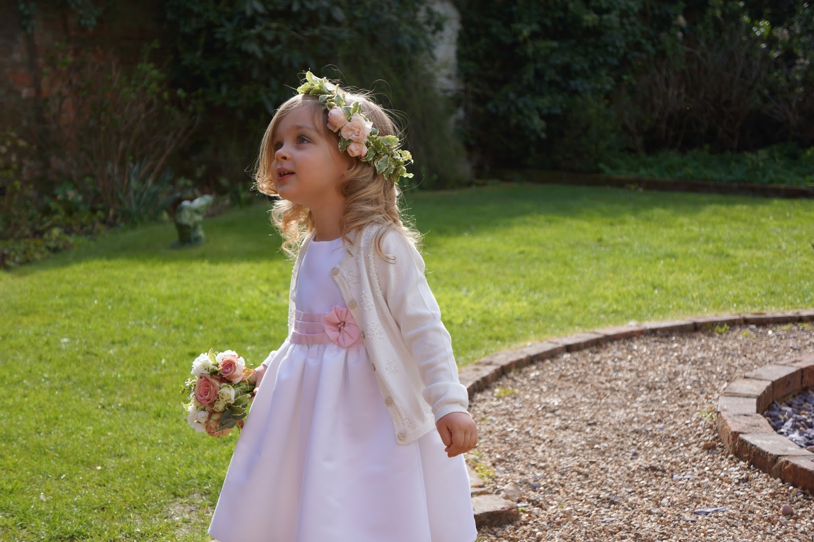 little girl as a flower girl
