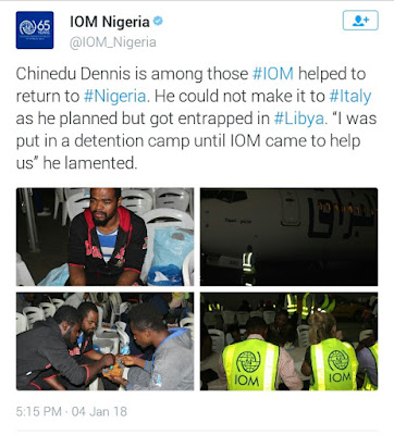 Nigerian returnee, Chinedu laments after he couldn