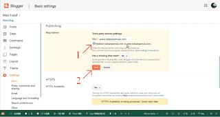 cara pasang domain tld di blogspot