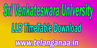 Sri Venkateswara University Tirupati LLB Exam TimeTable Download