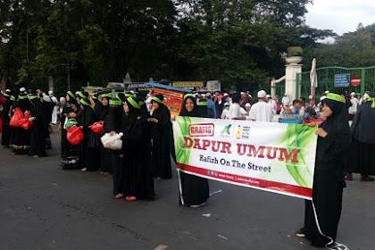 Semangat Bela Qur'an, Ibu-ibu Membuka Dapur umum Mulai Dari Hafiz On The Street Dan Lainnya Di Monas Pagi Ini