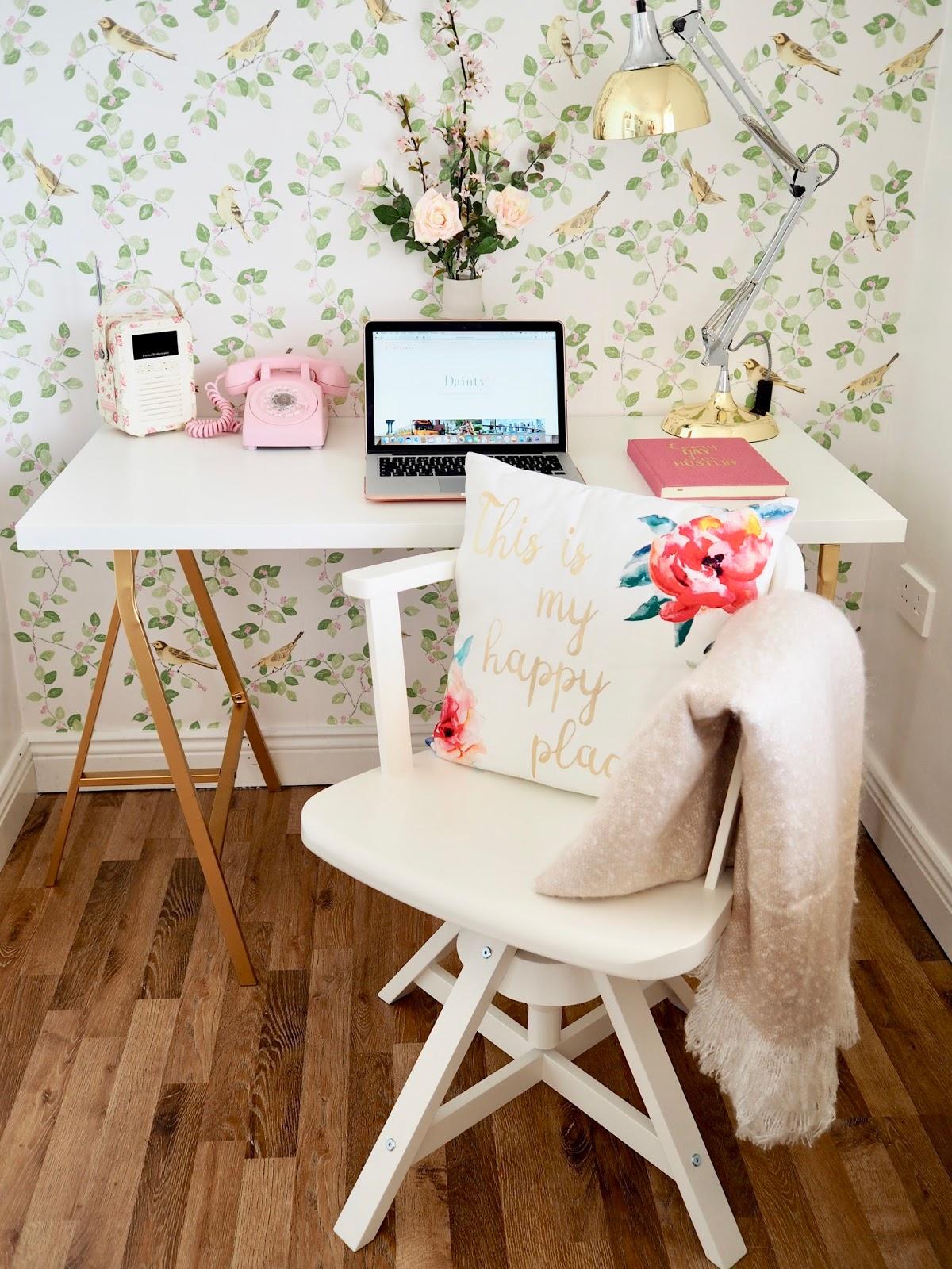 Ikea desk hack, Desk DIY for under €50 - Dainty Dress Diaries
