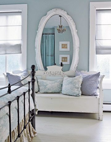 Vintage Gray Bedroom. allow one to pop in the living room. vintage ...