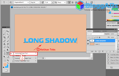 Tahap Membuat Efek Long Shadow di Photoshop