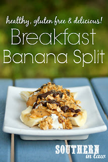 Healthy Breakfast Banana Split Recipe