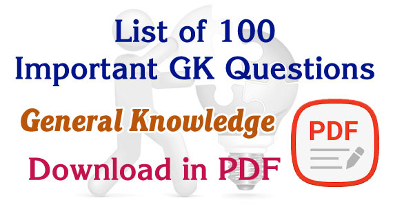General knowledge questions and answers pdf