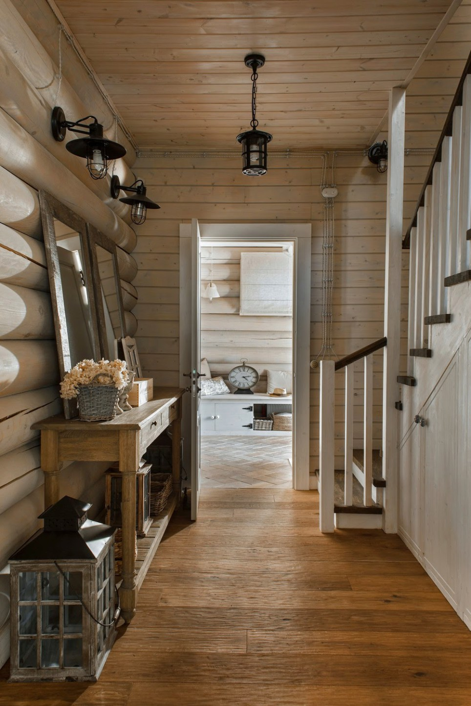 An elegant log cabin by ID Interior