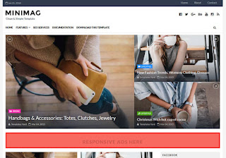 MiniMag Grid Blogger Template