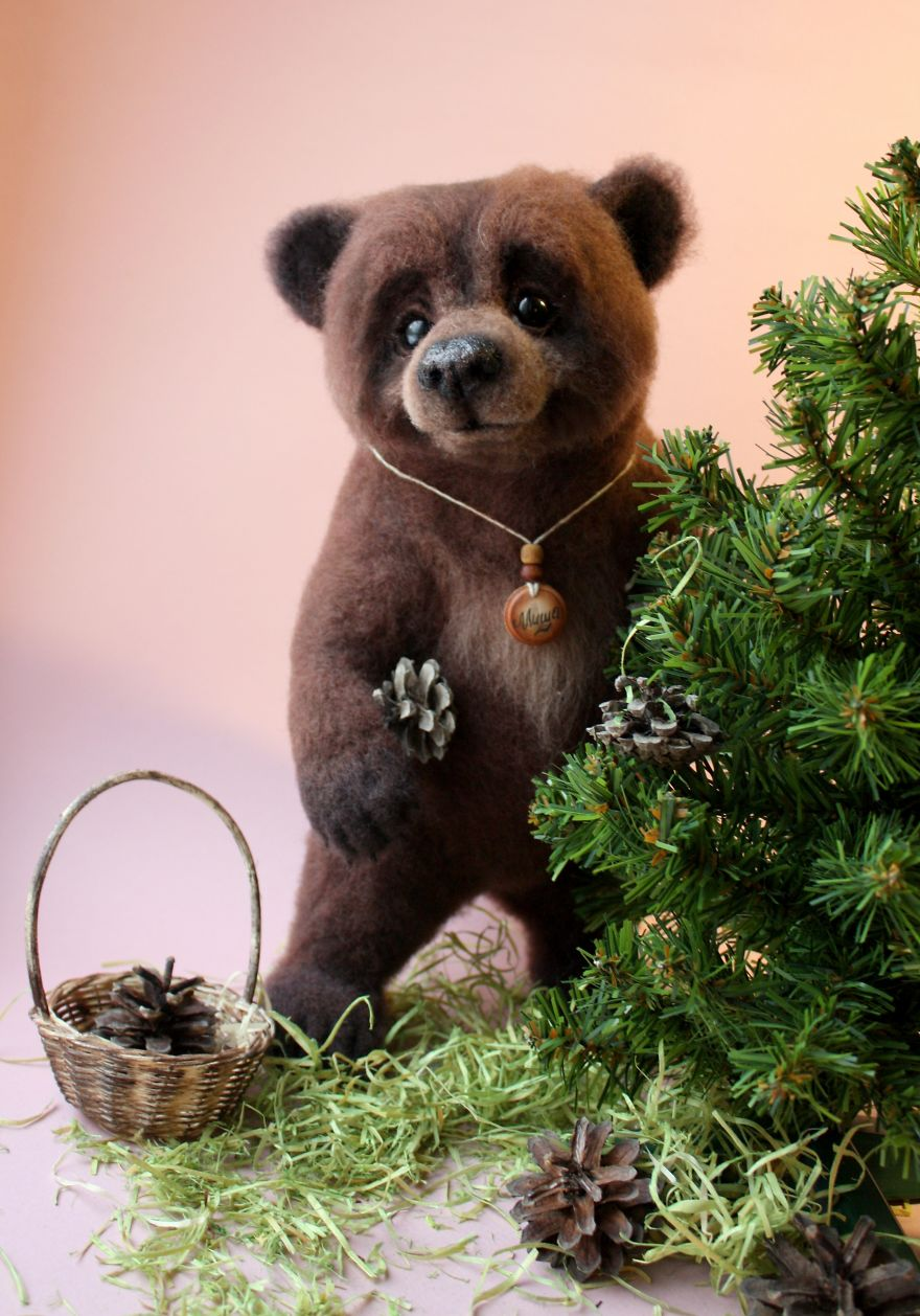 15-Brown-Bear-Tatiana-Barakova-Татьяна-Баракова-Plush-little-Animals-made-of-Wool-www-designstack-co