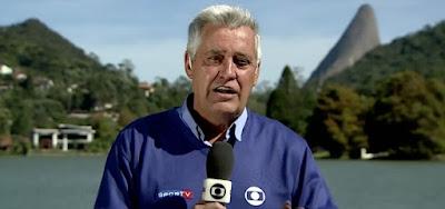 Repórter espotivo da Globo, Mauro Naves