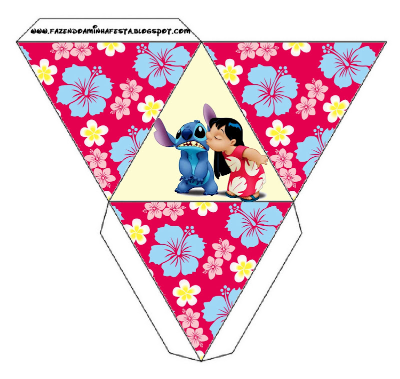 Lilo And Stitch Birthday Banner Lilo And Stitch Baby: Lilo And Stitch: Free Printable Party Boxes.