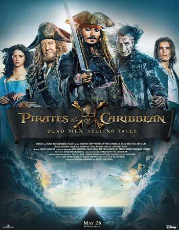 Pirates of the Caribbean Dead Men Tell No Tales 2017 Hindi ORG Dual Audio 350MB BluRay 480p ESubs
