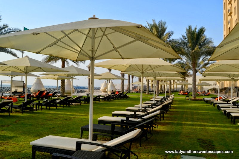 sunbeds at The Ajman Palace