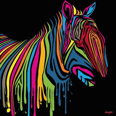 zebra de colores ilustración