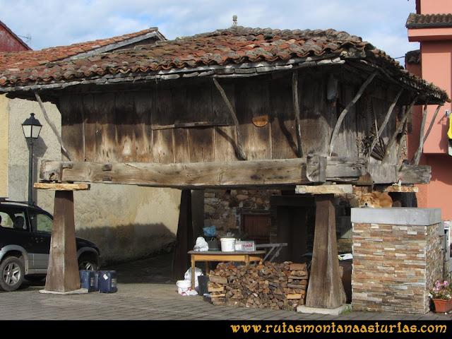 Ruta Torazo, Pico Incos: Hórreo