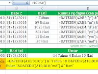 Cara Menghitung Umur di Excel