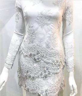 baju nikah putih 2017