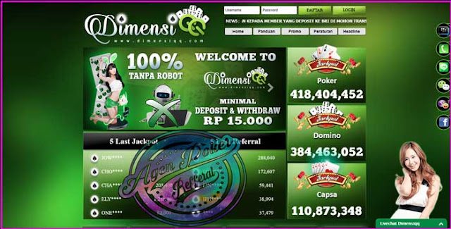 Dimensiqq Situs Agen Judi Online Terpercaya Di Indonesia