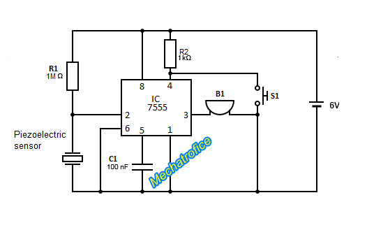 piezoelectric sensor burglar alarm