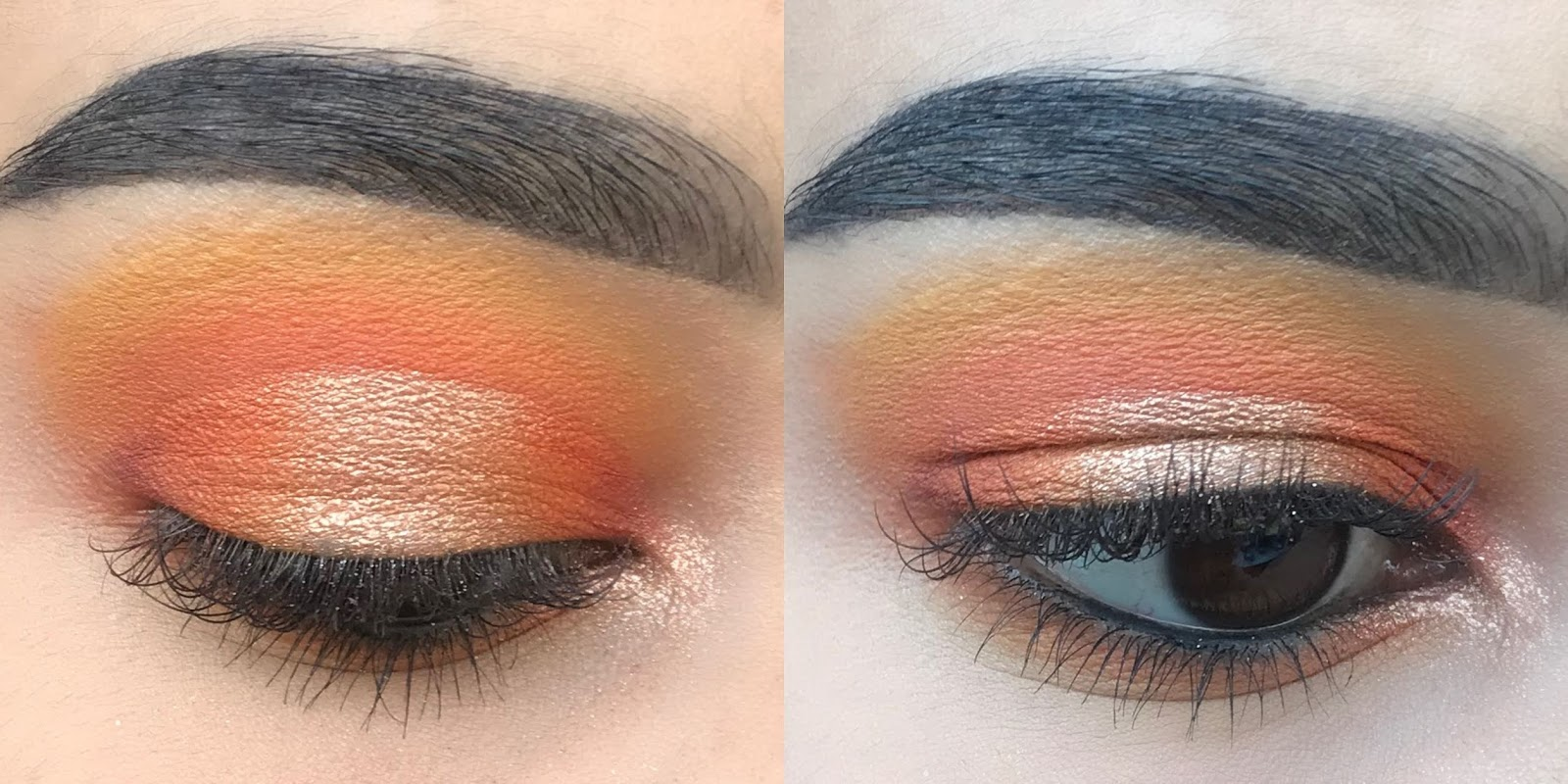 peach dream eye look