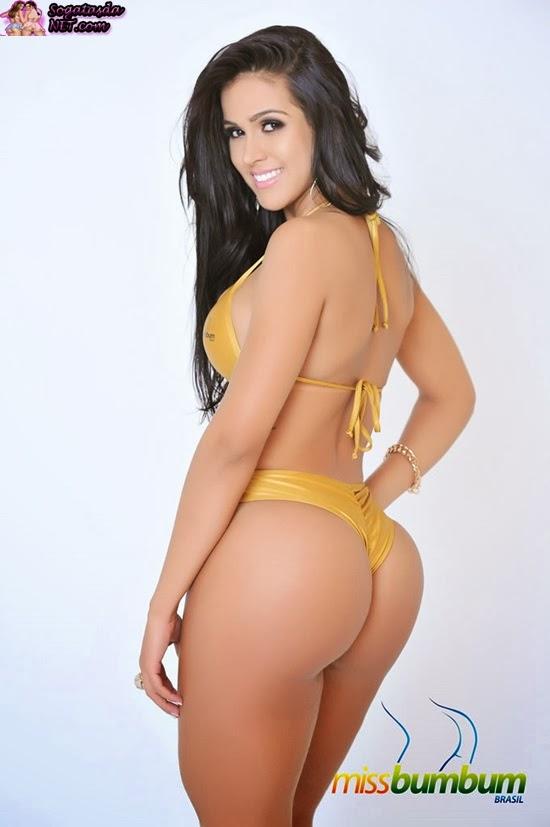 A concorrente de Goiás é a modelo Daiane Macedo de 25 anos