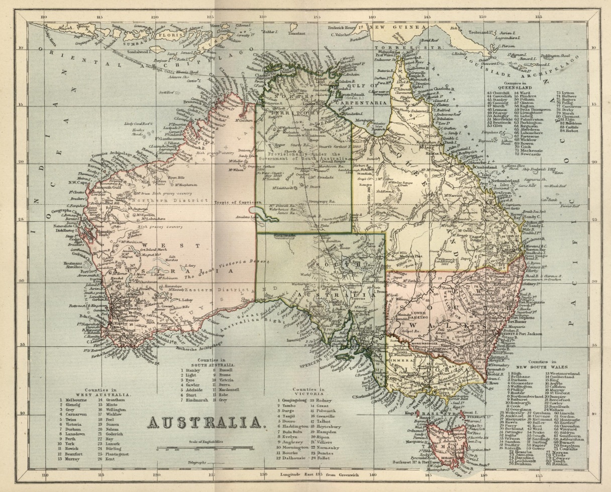 This is a picture of Genius Printable Australia Map