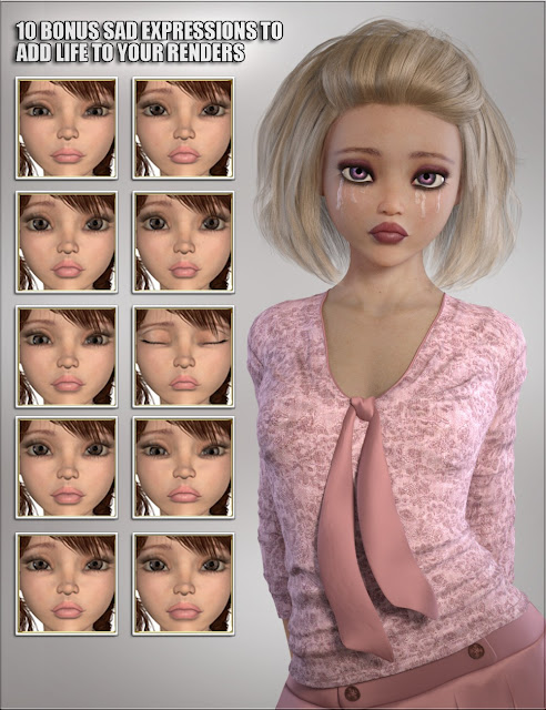 VYK Sad Sue for Genesis 3 Female