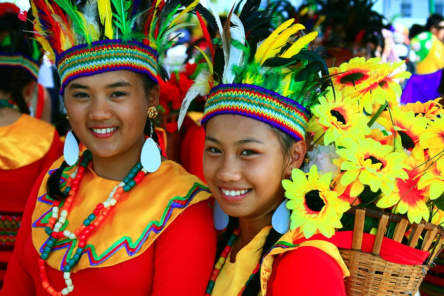 Filipina Girls Celebrating Their Culture