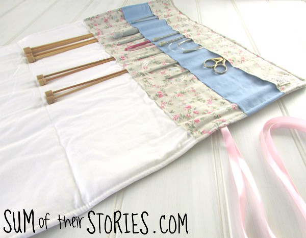 How to make a knitting needle case from an old pillowcase