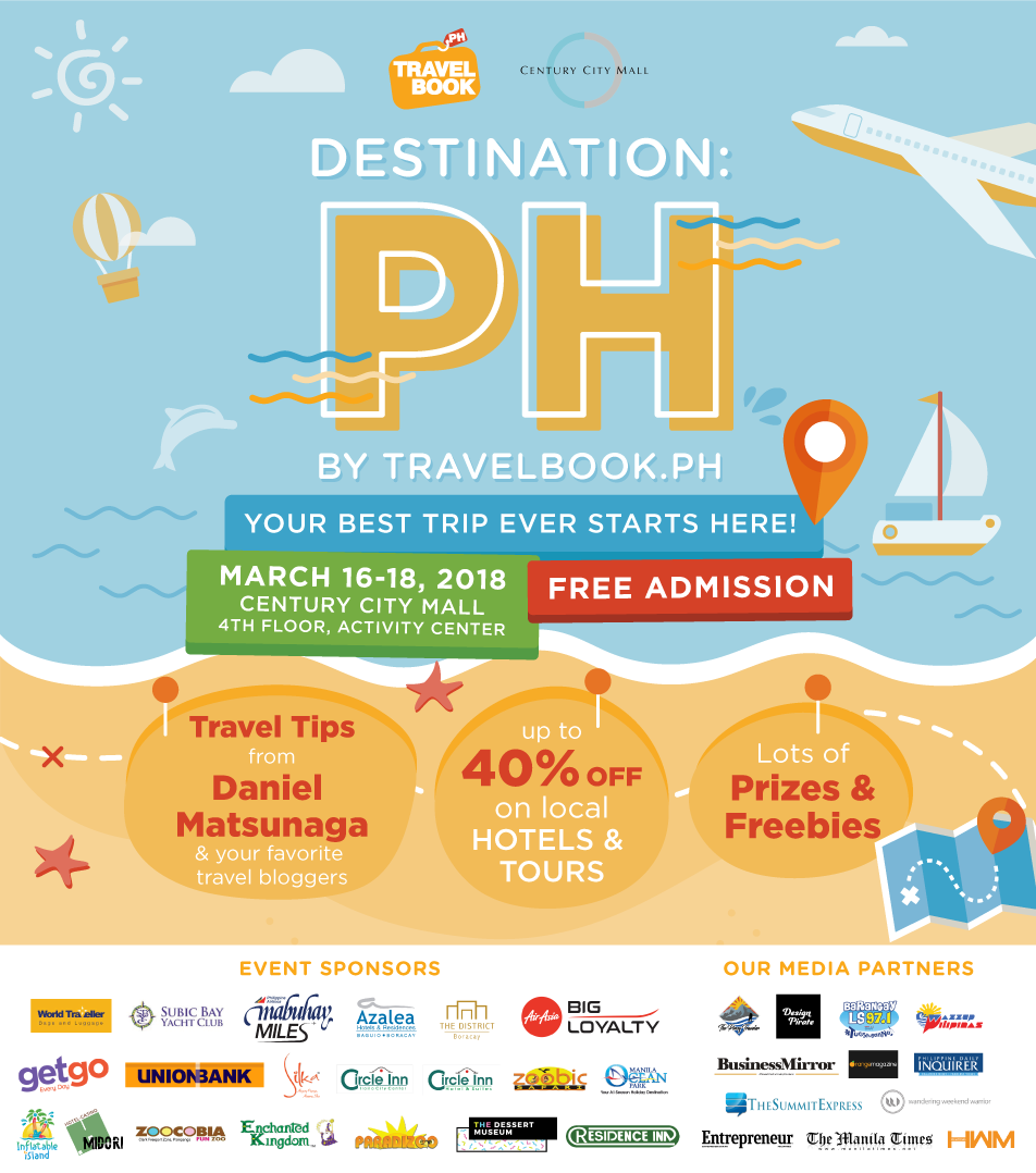 Prizes to be Given Away at TravelBook.ph's Destination: PH Travel Fair