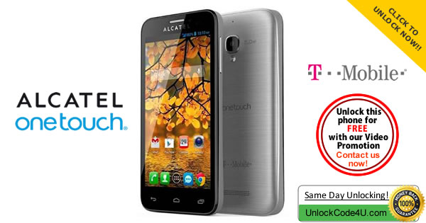 Unlock Alcatel One Touch Fierce 7024W from T-mobile USA