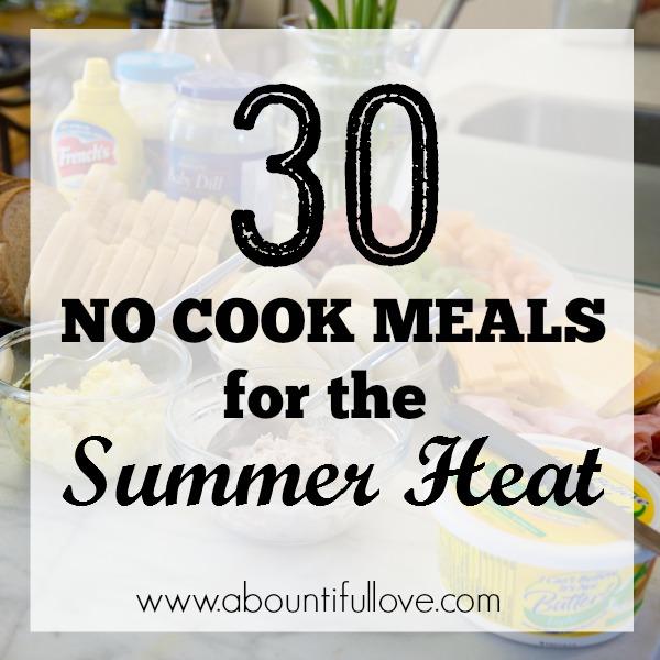 30 No Cook Meals