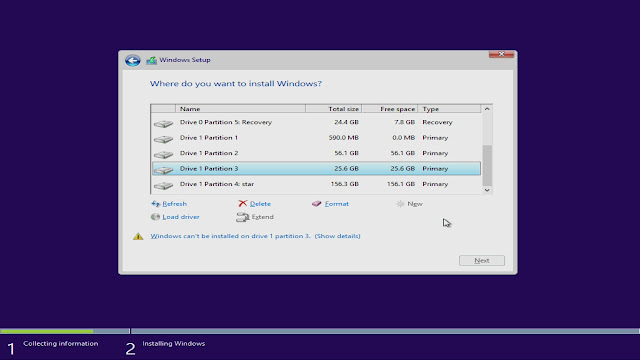 windows 7 setup process