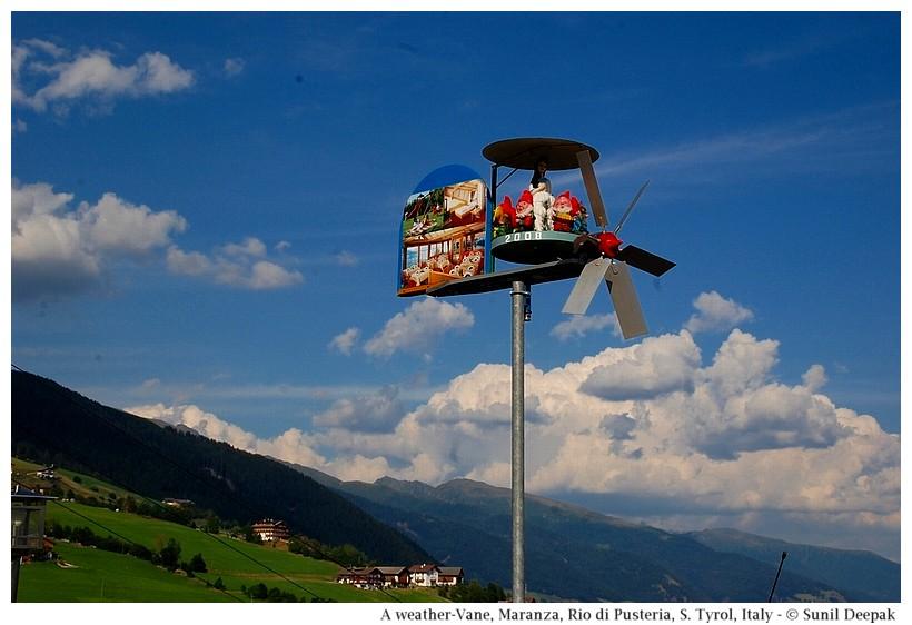 A weather-vane, Maranza (Rio di Pusteria, Alto Adige, Italy) - Images by Sunil Deepak