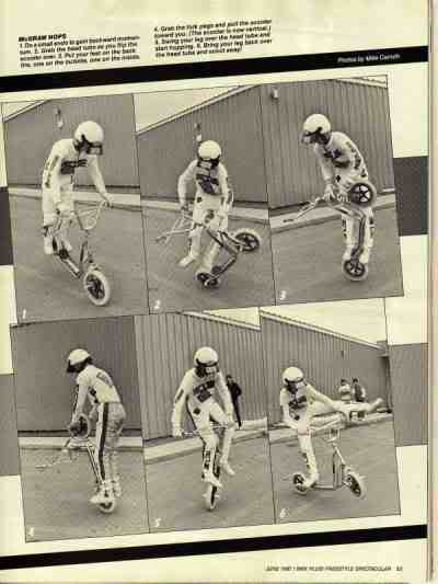 freestyle sur trottinette bmx