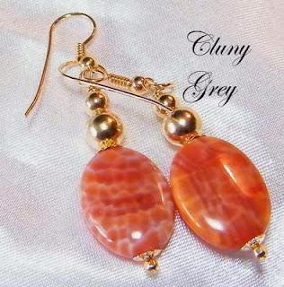 fire agate earrings