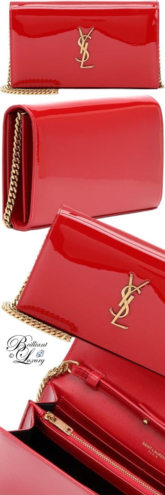 Brilliant Luxury ♦ PANTONE Fashion Color SS 2019 ~ Fiesta ♦ Saint Laurent Kate wallet leather shoulder bag #red