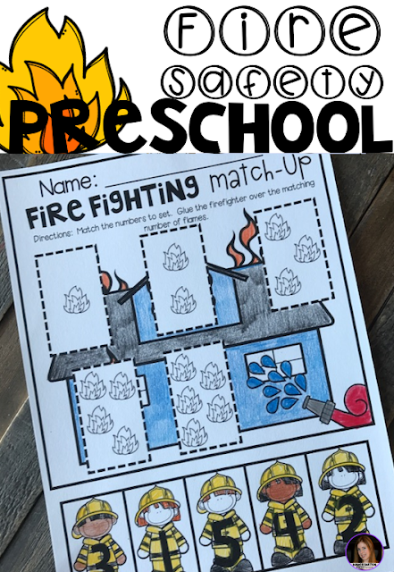 Fire Safety Worksheets and Printables for Preschool.