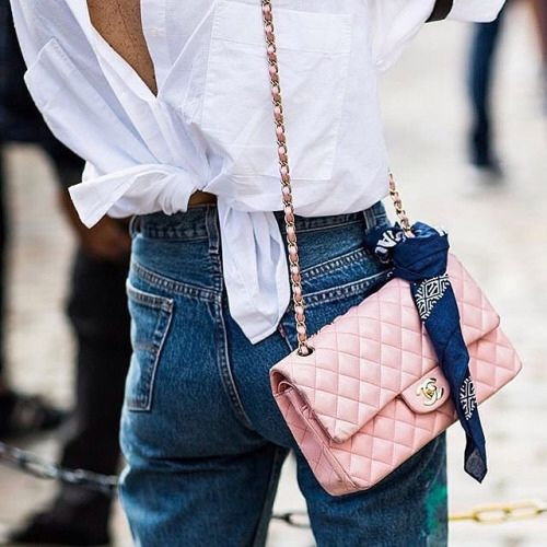 pink chanel street style