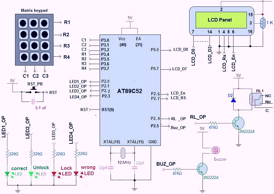 One Time Programmable Password Lock | Elec Eng World