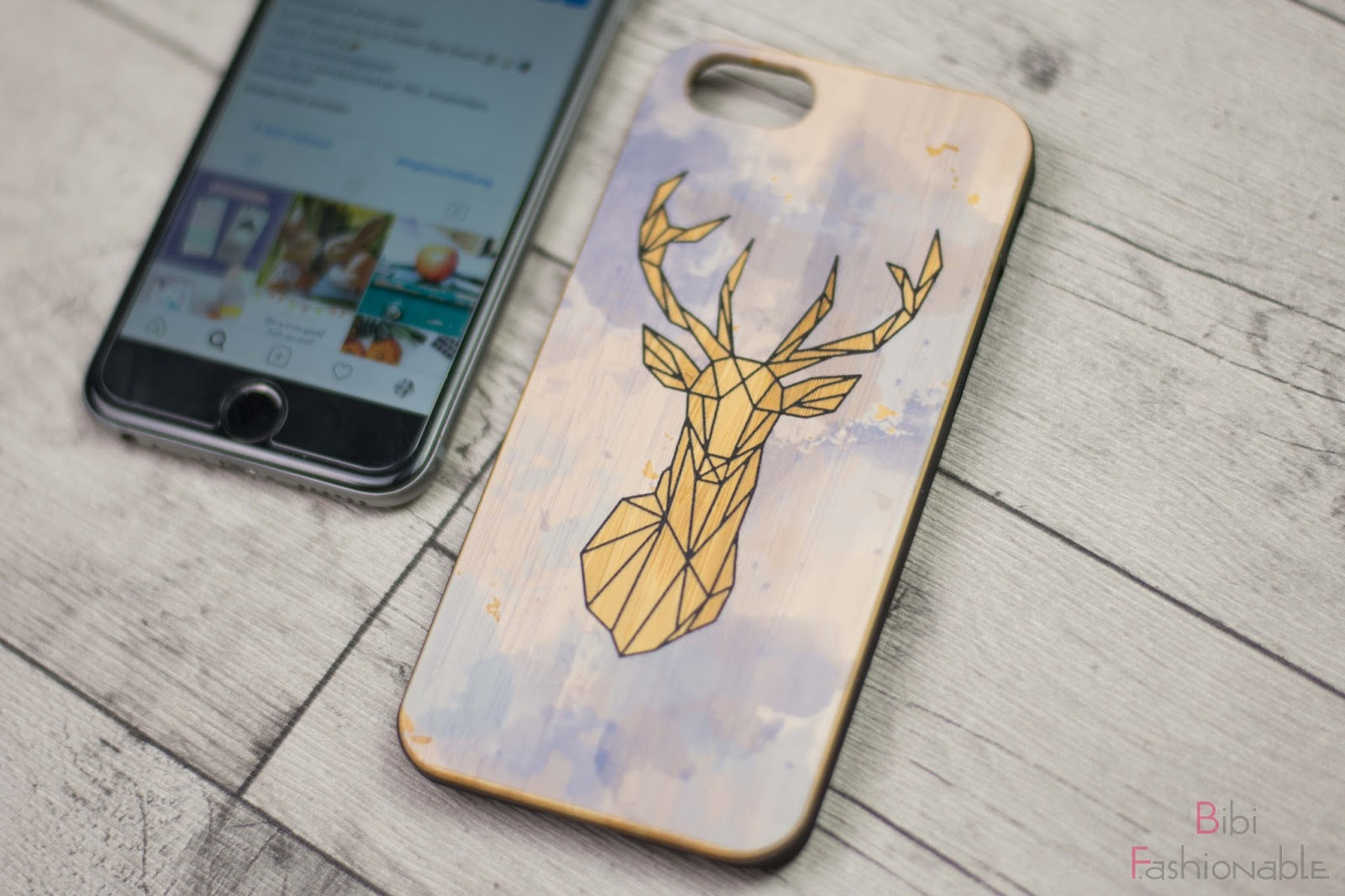 GoCustomized Watercolor meets Geometric wooden Case