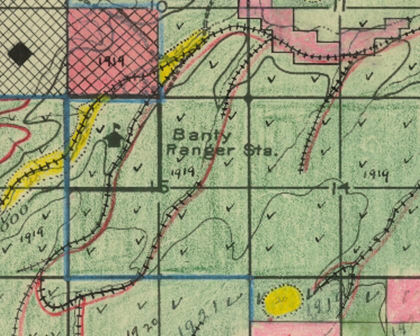 Map Of Arizona Railroads.Arizona Rails Ruins And Trails Central Az Railroad Township 19 N
